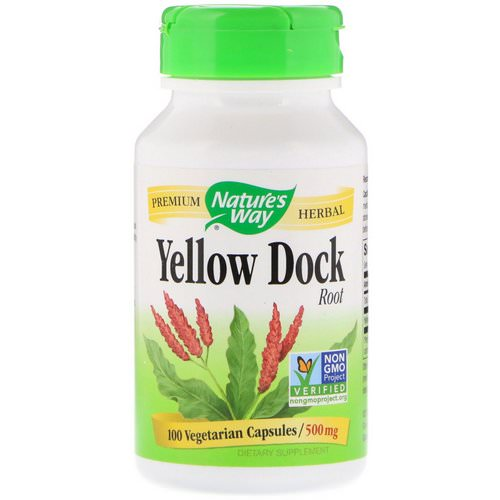 Nature's Way, Yellow Dock Root, 500 mg, 100 Vegetarian Capsules فوائد