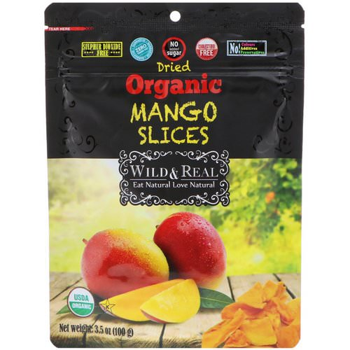 Nature's Wild Organic, Wild & Real, Dried, Organic Mango Slices, 3.5 oz (100 g) فوائد
