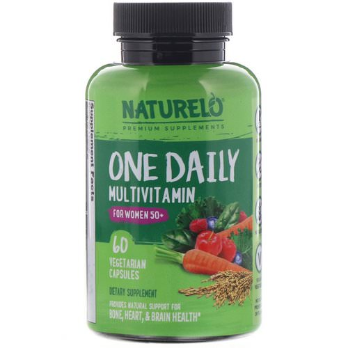NATURELO, One Daily Multivitamin for Women 50+, 60 Vegetarian Capsules فوائد