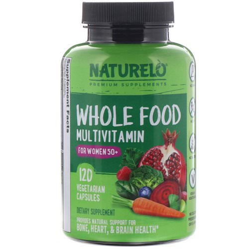 NATURELO, Whole Food Multivitamin for Women 50+, 120 Vegetarian Capsules فوائد