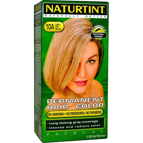 Naturtint, Permanent Hair Color, 10A Light Ash Blonde, 5.28 fl oz (170 ml) فوائد
