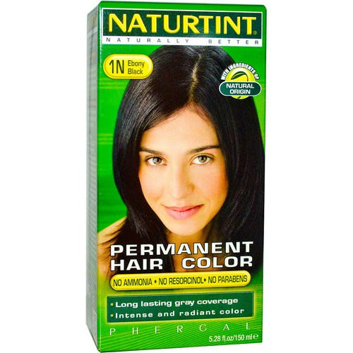Naturtint, Permanent Hair Color, 1N Ebony Black, 5.28 fl oz (150 ml) فوائد