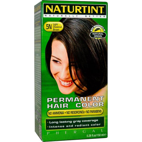 Naturtint, Permanent Hair Color, 5N Light Chestnut Brown, 5.28 fl oz (150 ml) فوائد