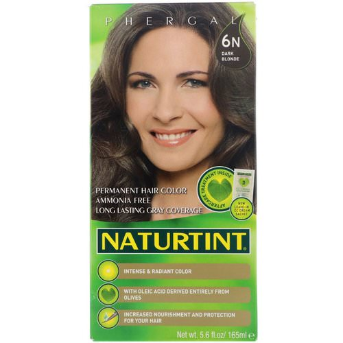 Naturtint, Permanent Hair Color, 6N Dark Blonde, 5.6 fl oz (165 ml) فوائد