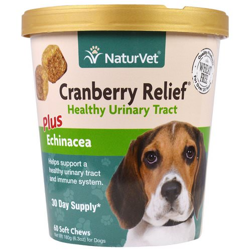 NaturVet, Cranberry Relief For Dogs Plus Echinacea, 60 Soft Chews, 6.3 oz (180 g) فوائد
