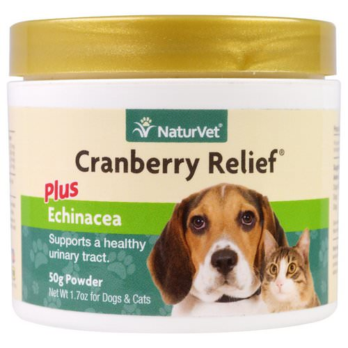 NaturVet, Cranberry Relief Plus Echinacea, For Dogs & Cats, 1.7 oz (50 g) Powder فوائد