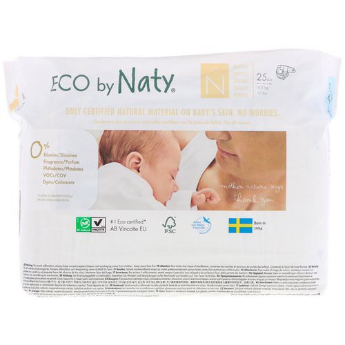 Naty, Diapers, Size N, -11 lbs (-4,5 kg), 25 Diapers فوائد