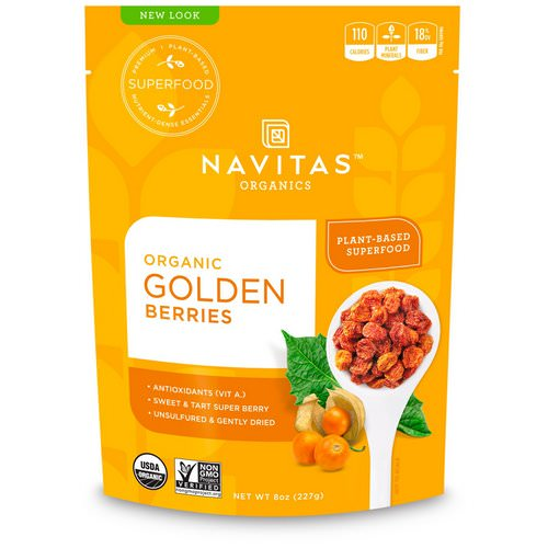 Navitas Organics, Organic Golden Berries, 8 oz (227 g) فوائد