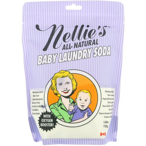 Nellie's, All-Natural, Baby Laundry Soda, 1.6 lbs (726 g) فوائد