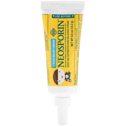 Neosporin, Dual Action Cream, Pain Relief Cream, For Kids Ages 2 +, 0.5 oz (14.2 g) فوائد