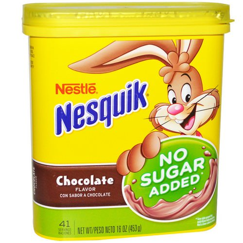 Nesquik, Nestle, Chocolate Flavor, No Sugar Added, 16 oz (453 g) فوائد