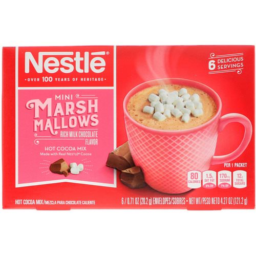 Nestle Hot Cocoa Mix, Mini Marshmallows, Rich Milk Chocolate Flavor, 6 Envelopes, 0.71 oz (20.2 g) Each فوائد