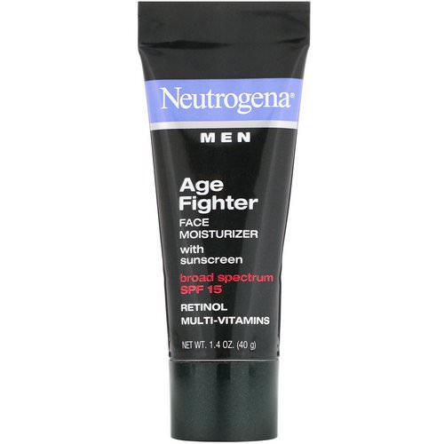 Neutrogena, Men, Age Fighter Face Moisturizer with Sunscreen, SPF 15, 1.4 oz (40 g) فوائد
