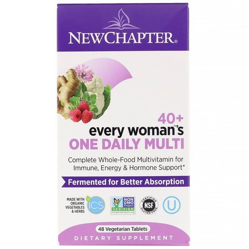New Chapter, 40+ Every Woman's One Daily Multi, 48 Vegetarian Tablets فوائد