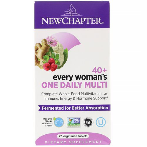 New Chapter, 40+ Every Woman's One Daily Multi, 72 Vegetarian Tablets فوائد