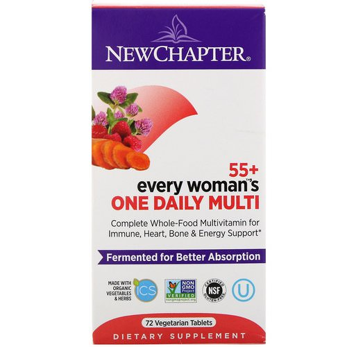 New Chapter, 55+ Every Woman's One Daily Multi, 72 Vegetarian Tablets فوائد