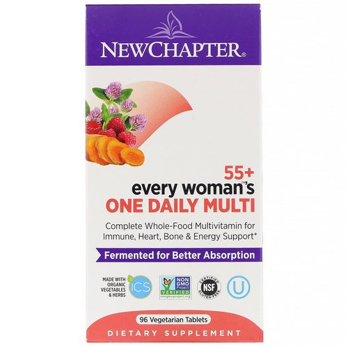 New Chapter, 55+ Every Woman's One Daily Multi, 96 Vegetarian Tablets فوائد