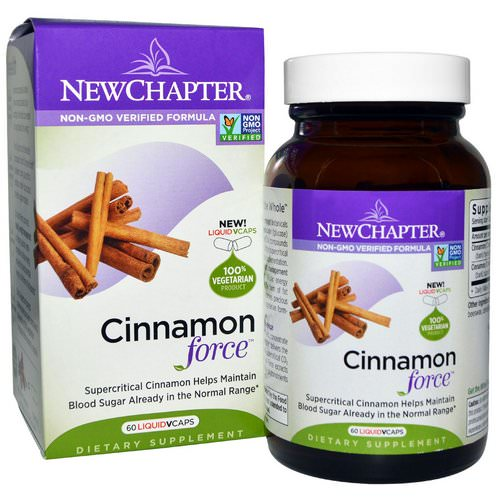New Chapter, Cinnamon Force, 60 Vegetarian Capsules فوائد