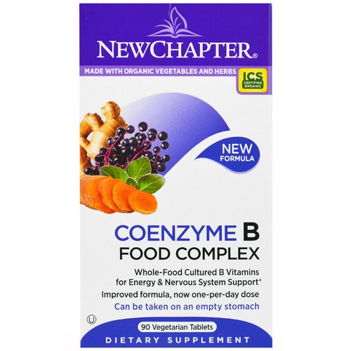 New Chapter, Coenzyme B Food Complex, 90 Veggie Tabs فوائد