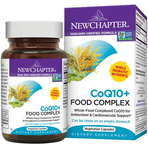 New Chapter, CoQ10 + Food Complex, 60 Veggie Caps فوائد