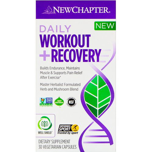New Chapter, Daily Workout + Recovery, 30 Vegetarian Capsules فوائد