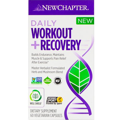 New Chapter, Daily Workout + Recovery, 60 Vegetarian Capsules فوائد