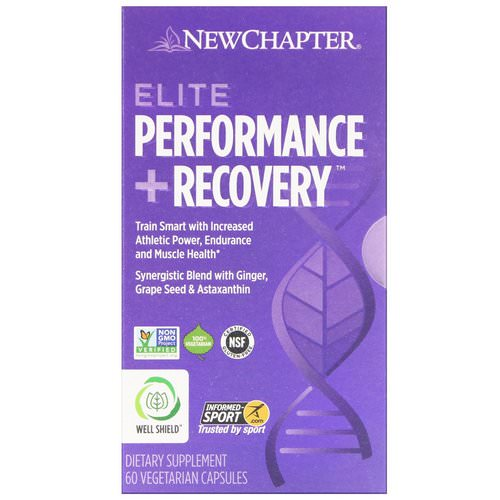 New Chapter, Elite Performance + Recovery, 60 Vegetarian Capsules فوائد