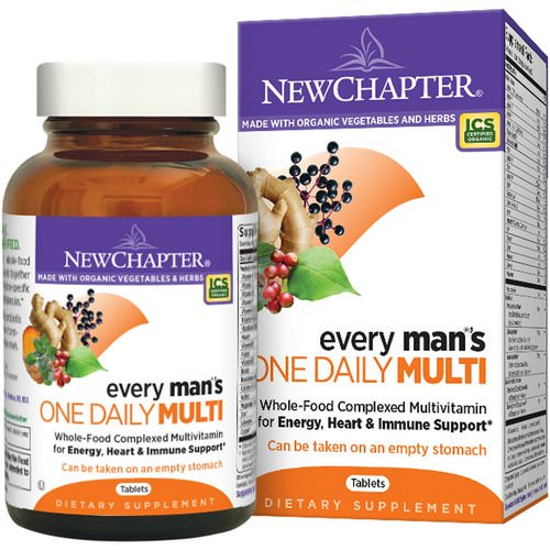 New Chapter, Every Man's One Daily Multi, 96 Tablets فوائد
