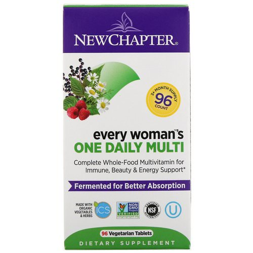 New Chapter, Every Woman's One Daily Multi, 96 Vegetarian Tablets فوائد