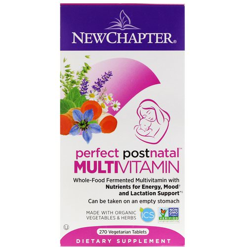 New Chapter, Perfect Postnatal Multivitamin, 270 Vegetarian Tablets فوائد