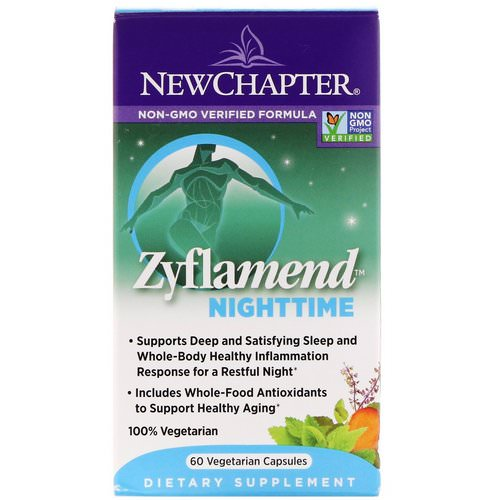 New Chapter, Zyflamend Nighttime, 60 Vegetarian Capsules فوائد