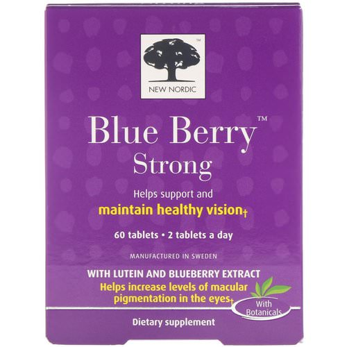 New Nordic, Blue Berry Strong, 60 Tablets فوائد