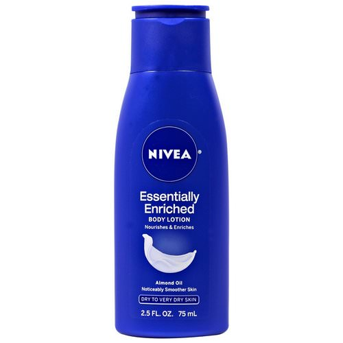 Nivea, Body Lotion, Essentially Enriched, Almond Oil, 2.5 fl oz (75 ml) فوائد