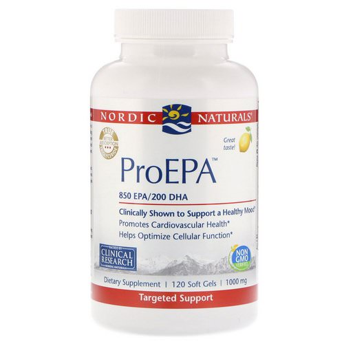Nordic Naturals, ProEPA, Lemon, 1,000 mg, 120 Softgels فوائد