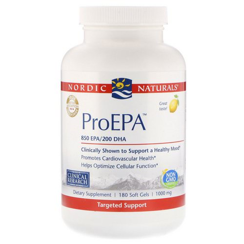 Nordic Naturals, ProEPA, Lemon Flavor, 1000 mg, 180 Softgels فوائد