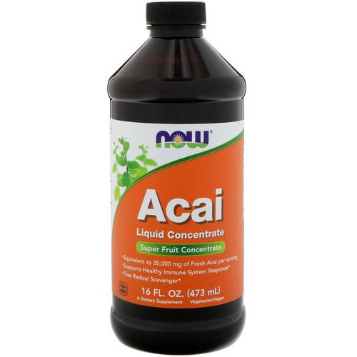 Now Foods, Acai Liquid Concentrate, 16 fl oz (473 ml) فوائد