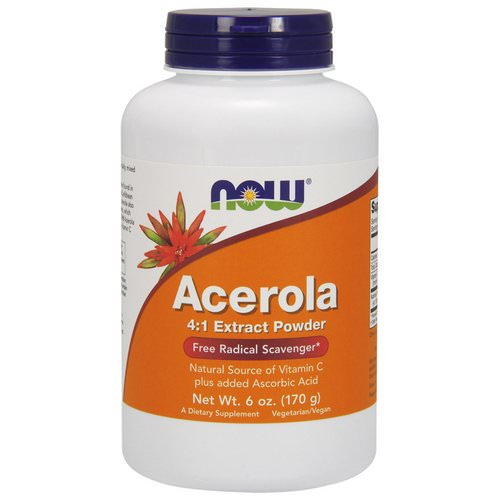 Now Foods, Acerola 4:1 Extract Powder, 6 oz (170 g) فوائد