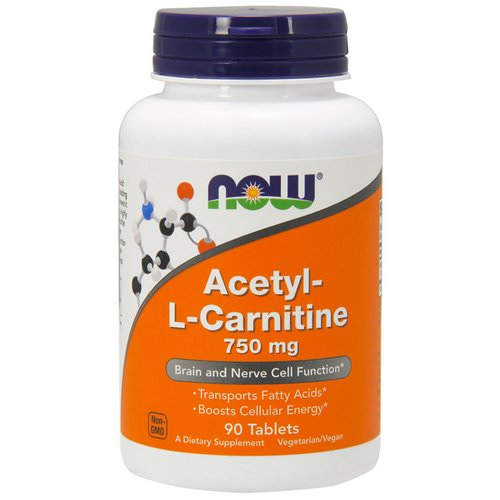 Now Foods, Acetyl-L Carnitine, 750 mg, 90 Tablets فوائد