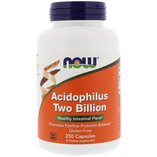 Now Foods, Acidophilus Two Billion, 250 Capsules فوائد