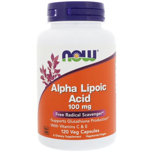 Now Foods, Alpha Lipoic Acid, 100 mg, 120 Veg Capsules فوائد
