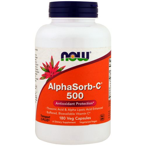 Now Foods, AlphaSorb-C 500, 180 Veggie Caps فوائد