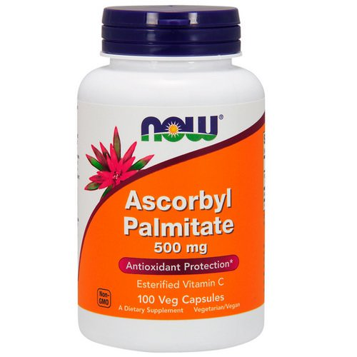 Now Foods, Ascorbyl Palmitate, 500 mg, 100 Veg Capsules فوائد