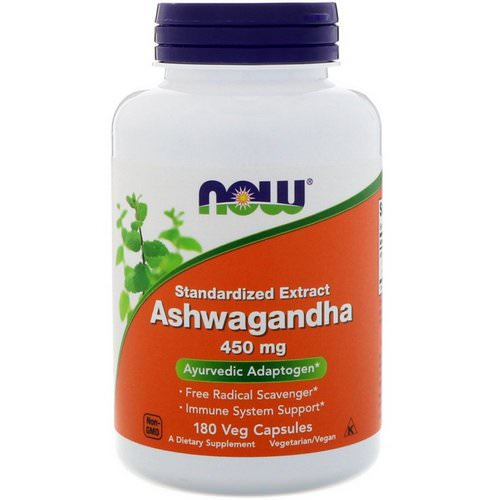 Now Foods, Ashwagandha, 450 mg, 180 Veg Capsules فوائد