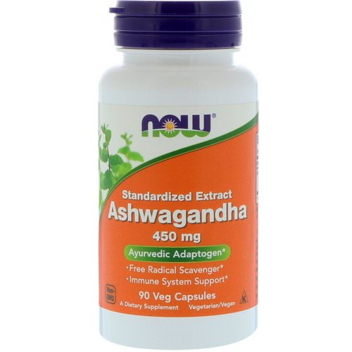Now Foods, Ashwagandha, 450 mg, 90 Veg Capsules فوائد