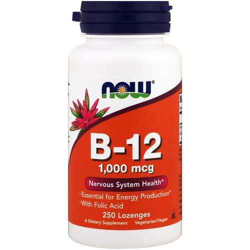 Now Foods, B-12, 1,000 mcg, 250 Lozenges فوائد