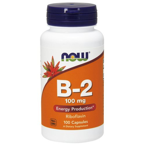 Now Foods, B-2, 100 mg, 100 Capsules فوائد