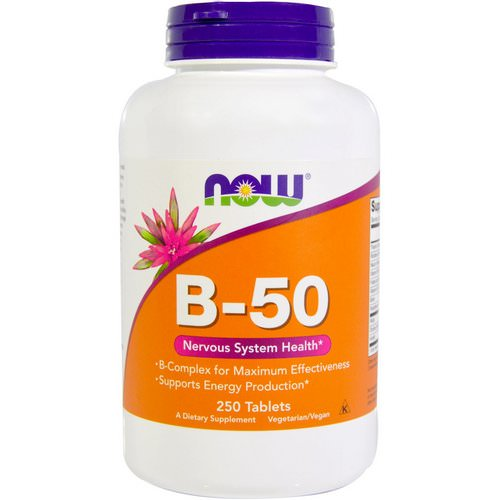 Now Foods, B-50, 250 Tablets فوائد