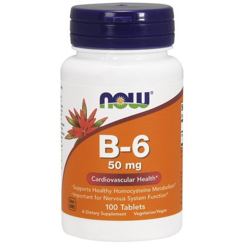 Now Foods, B-6, 50 mg, 100 Tablets فوائد