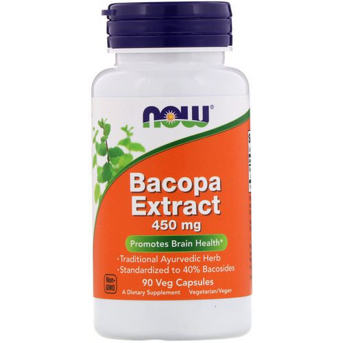 Now Foods, Bacopa Extract, 450 mg, 90 Veg Capsules فوائد