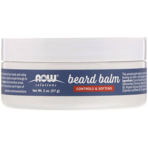 Now Foods, Beard Balm, Controls & Softens, Light Woodsy, 2 oz (57 g) فوائد